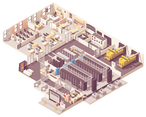 3D Office Diagram- Aerial