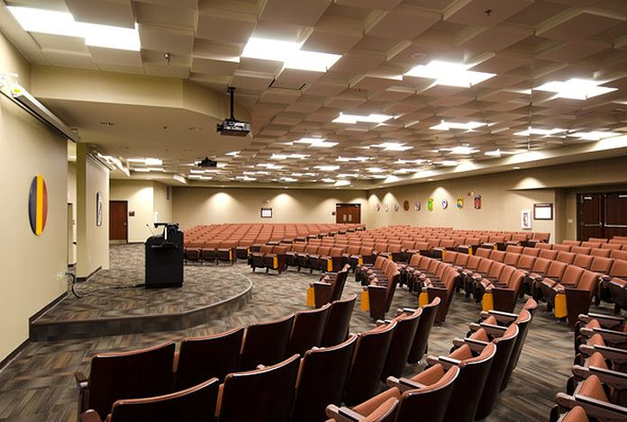 Fire and safety auditorium with podium